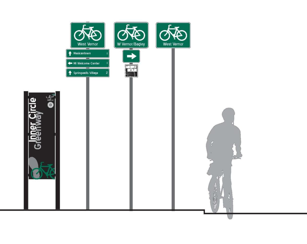 detroit bicycle wayfinding